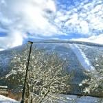 Stoh sjezdovka- výhled z terasy